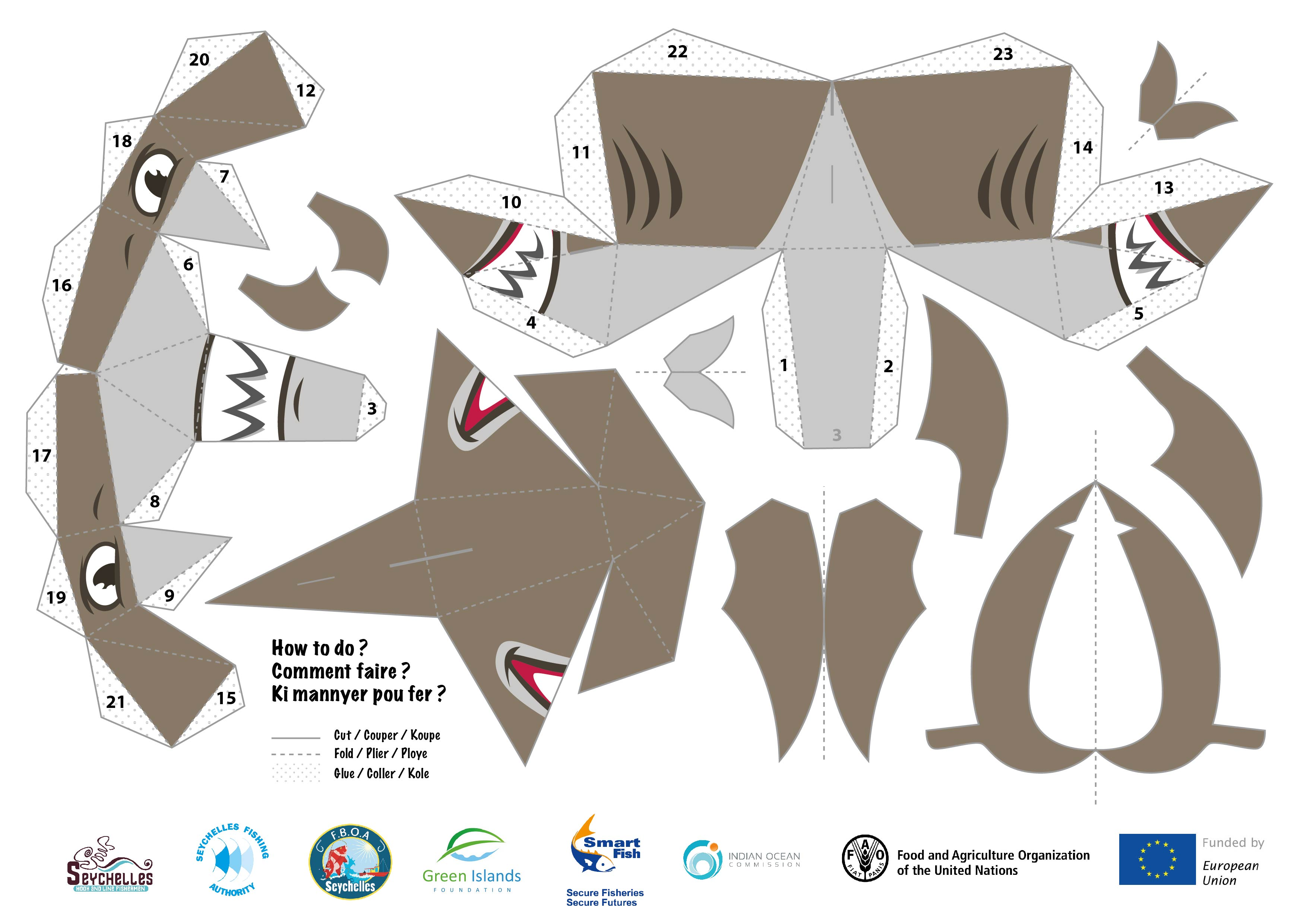 Shark Paper Toy : Fishing boat owners association papertoys nice paper toys