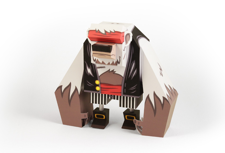 Pirate Bear Paper Toy
