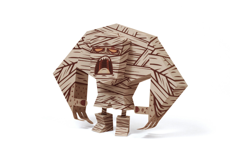 Tougui Mummy Paper Toy