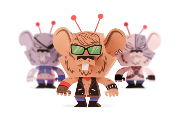 Biker Mice From Mars Papercraft