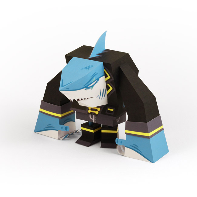 Pirate Shark Paper Toy