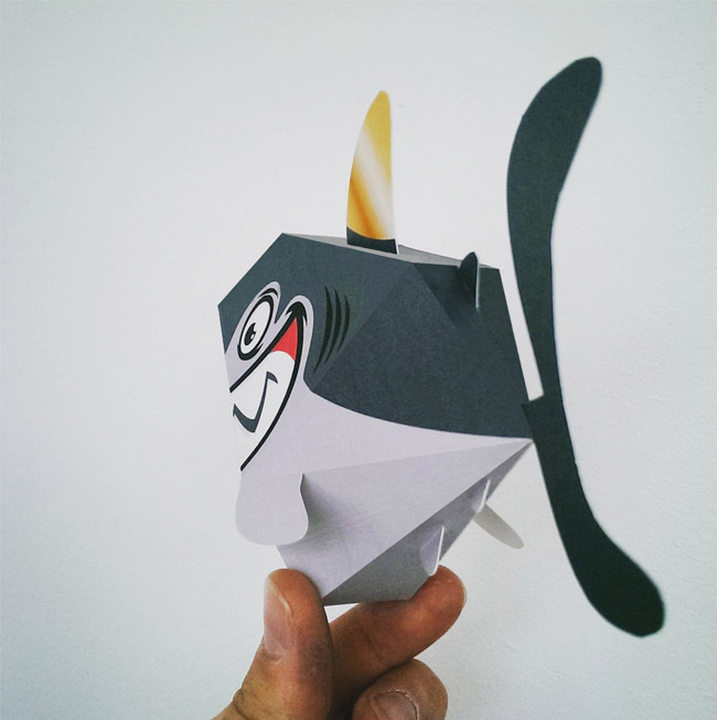 Shark Paper Toy : Fishing boat owners association papertoys tougui