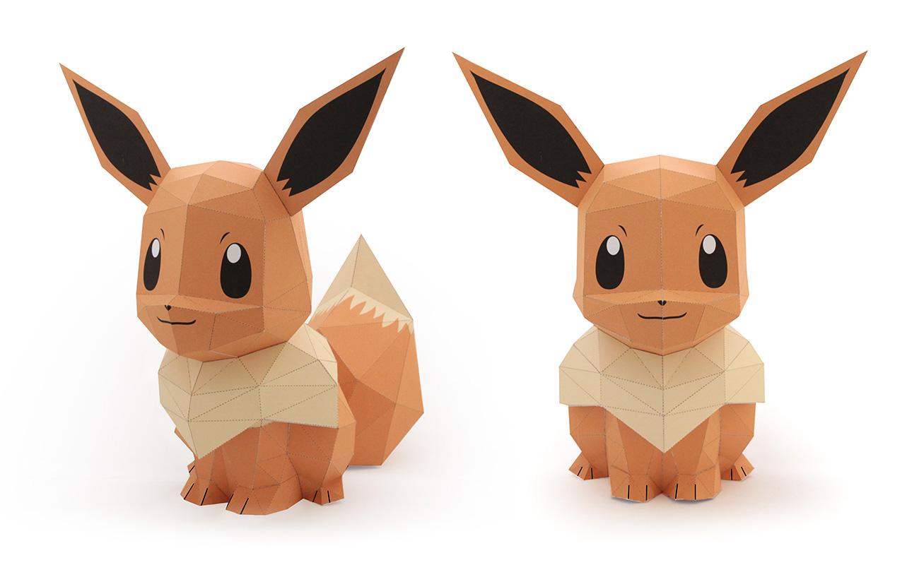 tougui_pokemon_evoli_papertoy_2
